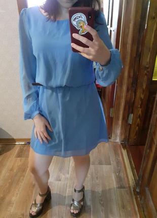 Голубое платье atmosphere uk8