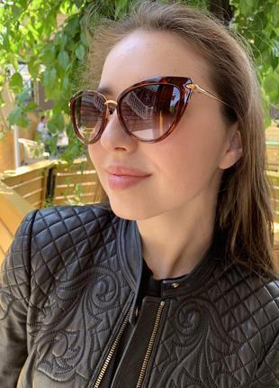 Солнцезащитные очки bialucci бабочка женские коричневые