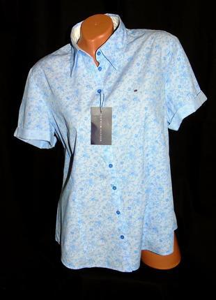 Tommy hilfiger шикарная брендовая рубашка - xxl - xl
