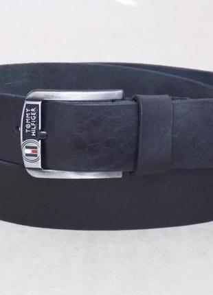 Кожаный широкий мужской ремень tommy hilfiger для джинс