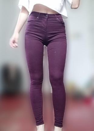🖇бордові джинси з високою посадкою