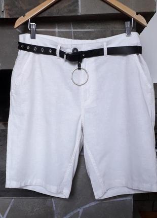 Фирменные шорты. 52-54р германия 55% лен.