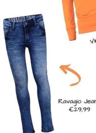Крутые стрейчевые джинсы скинни  ravagio р. 164-170 (р. 44-46) оригинал