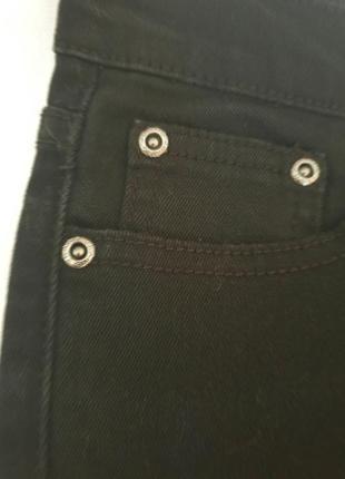 Рваные джинсы-скинни с высокой посадкой5 фото