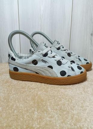 Кожаные кроссовки puma x tinycottons р.32/33, кросовки, кросівки