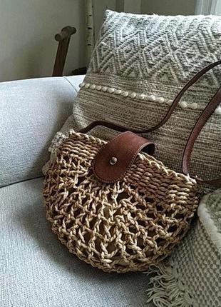 Летняя плетённая сумка