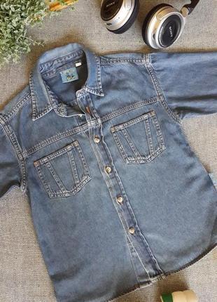Джинсова сорочка на 5-6 років 🎁 1+1=3