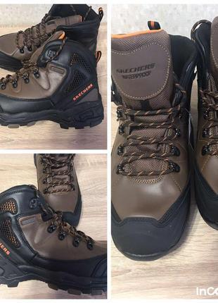 Новые зимние ботинки skechers, 12us, 30см стелька