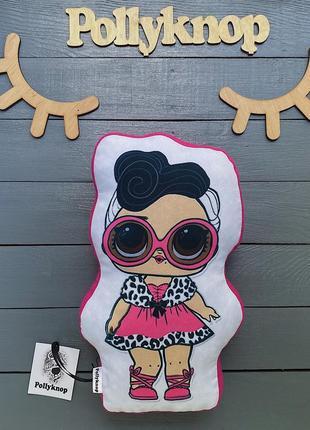 Подушка контурная объёмная с куклой лол