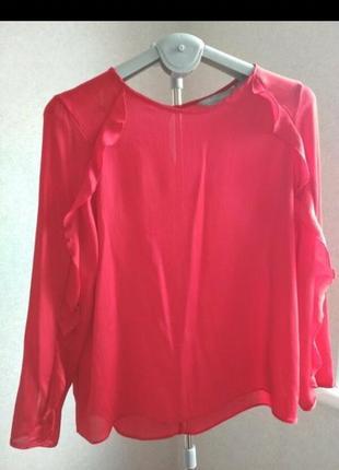 Блуза размер s красная с длинным рукавом