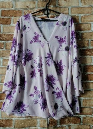 Красивая блуза с запахом