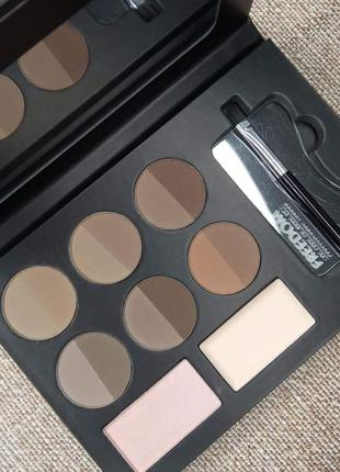 Набор для бровей freedom makeup london pro hd brow palette - fair medium
