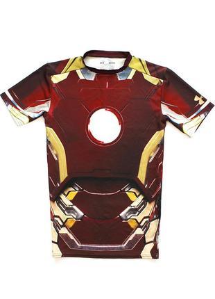 Under armour avengers iron man компресійна футболка для занять спортом