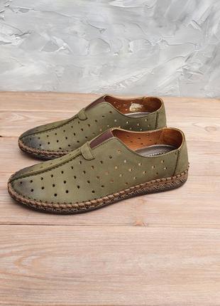 Мужские летние мокасины, летние туфли