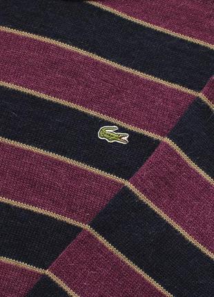 Lacoste vintage крутий вільний вязаний светр у полоску