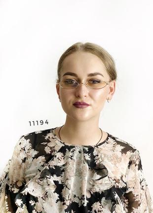 Узкие имиджевые очки {антиблик} к.11194