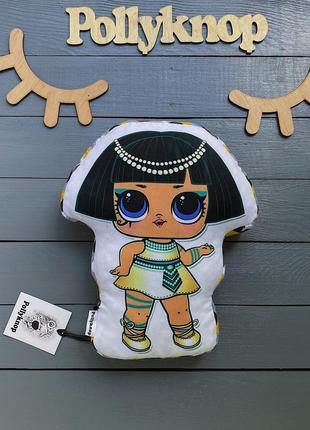 Подушка контурная объёмная кукла лол