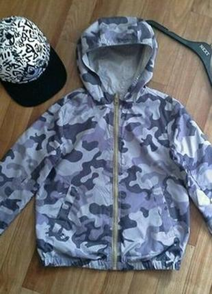 Двусторонняя куртка ветровка benetton sisley l 8-9лет