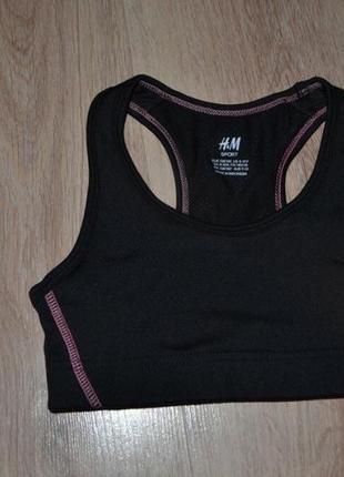 Топ для спорта девочке h&m р134-140 8-9лет сост идеал