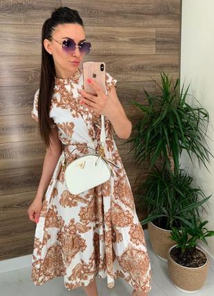 Платье шелковое с узором