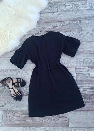 ✔💣мега разпродажа 👍✔котоновое платье  zara. рукав фонарик