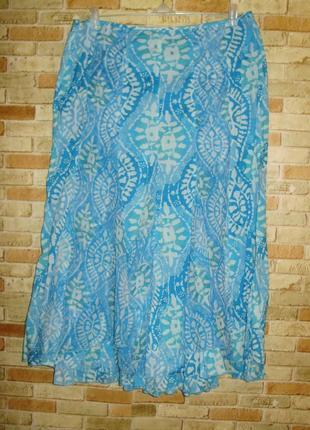 Новая хлопковая летняя юбка клинка хлопок-шифон 16/50-52 размера