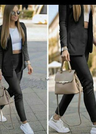 Костюм двойка брюки укороченные пиджак