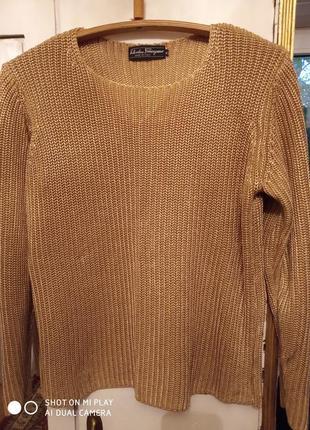 Шелковый свитер salvatore ferragamo