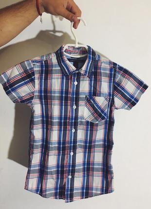 Детская рубашка с коротким рукавом tommy hilfiger