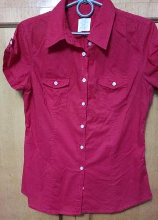 Рубашка червоного кольру, 100%коттон