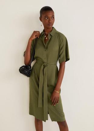 Платье рубашка mango, размеры