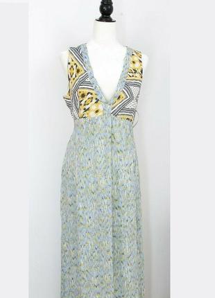 Фирменное льняное платье zara