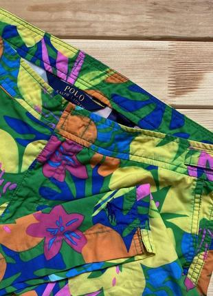 Крутейшие разрисованные шорты polo ralph lauren (пляжные)
