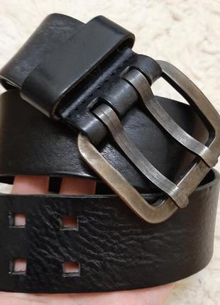 Шикарный итальянский кожаный  широкий ( 4,7см) ремень, пояс, коричневый