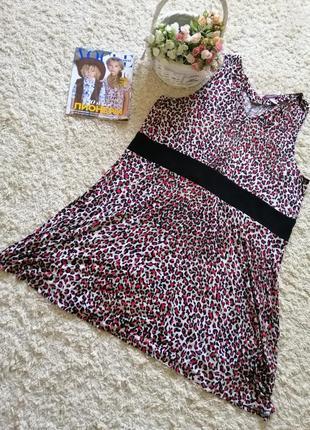 Платье из трикотажной вискозы большого размера 30 uk, наш 66-68.