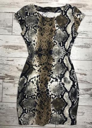 Платье трикотажное сукня трикотажна зміїний принт