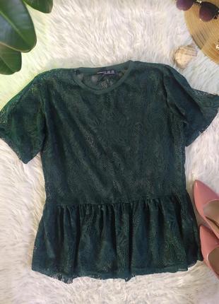 Полупрозрачная блуза футболка накидка с кружева