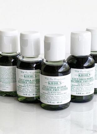 Бесспиртовой тоник с огурцом для нормальной и сухой кожи, kiehl's, cucumber herbal