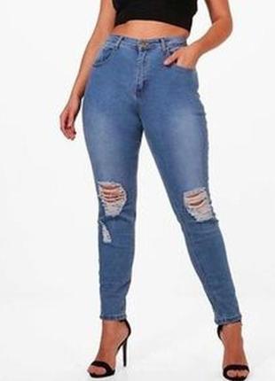 Моднячие джинсы скини большого размера 56-58р.