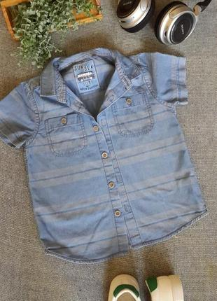 Дитяча джинсова сорочка на 5 років 🎁 1+1=3