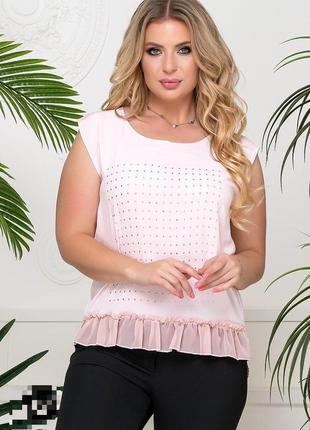 Блуза с отделкой стразами