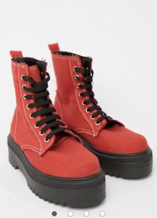 Джинсовые ботинки asos