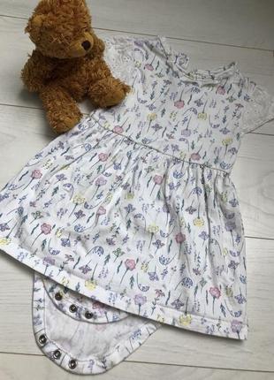 Платье, платье-боди george, h&m 18-24, 1,5-2года