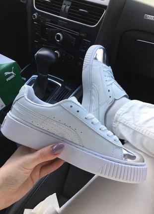 Кросівки кеди puma suede creeper  white/chrom кроссовки кеды