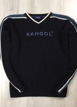F7 чёрный свитер с лампасами kangol кангол
