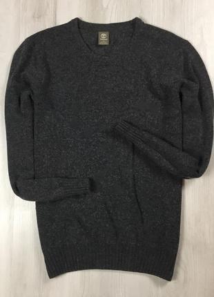 F8 шерстяной свитер timberland кофта тимберленд серый