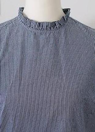Блуза в мелкую полоску с рюшами h&m