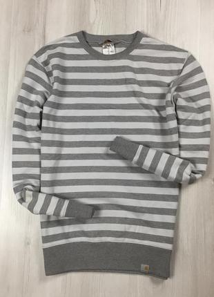 F8 свитшот carhartt полосатый в полоску серый кофта