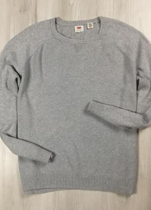 F7 свитер levis левис левайс серый кофта свитшот