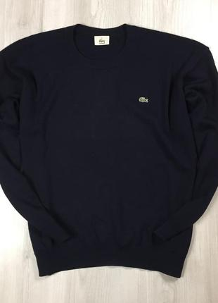 F7 свитер шерстяной lacoste лакоста чёрный кофта свитшот